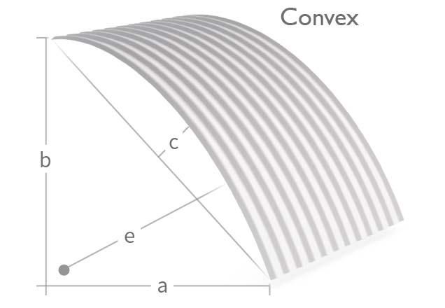 Cladding Roofing Sheeting Walling CGI Pre Curving Convex Order