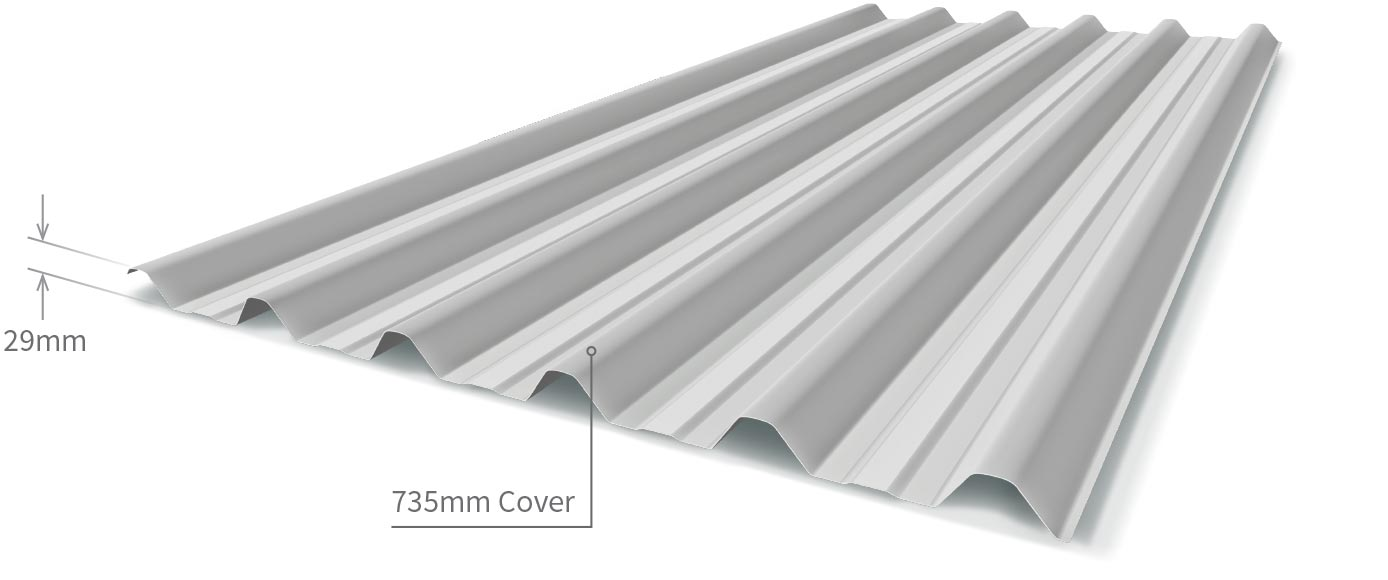 Cladding Roofing Sheeting Walling Trimline Profile