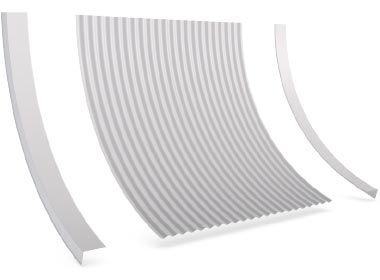Flashings Roof Flashing Curved Concave Barge Reverse Arch