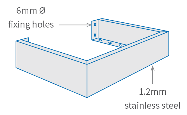 Stainless Steel Floor Trough